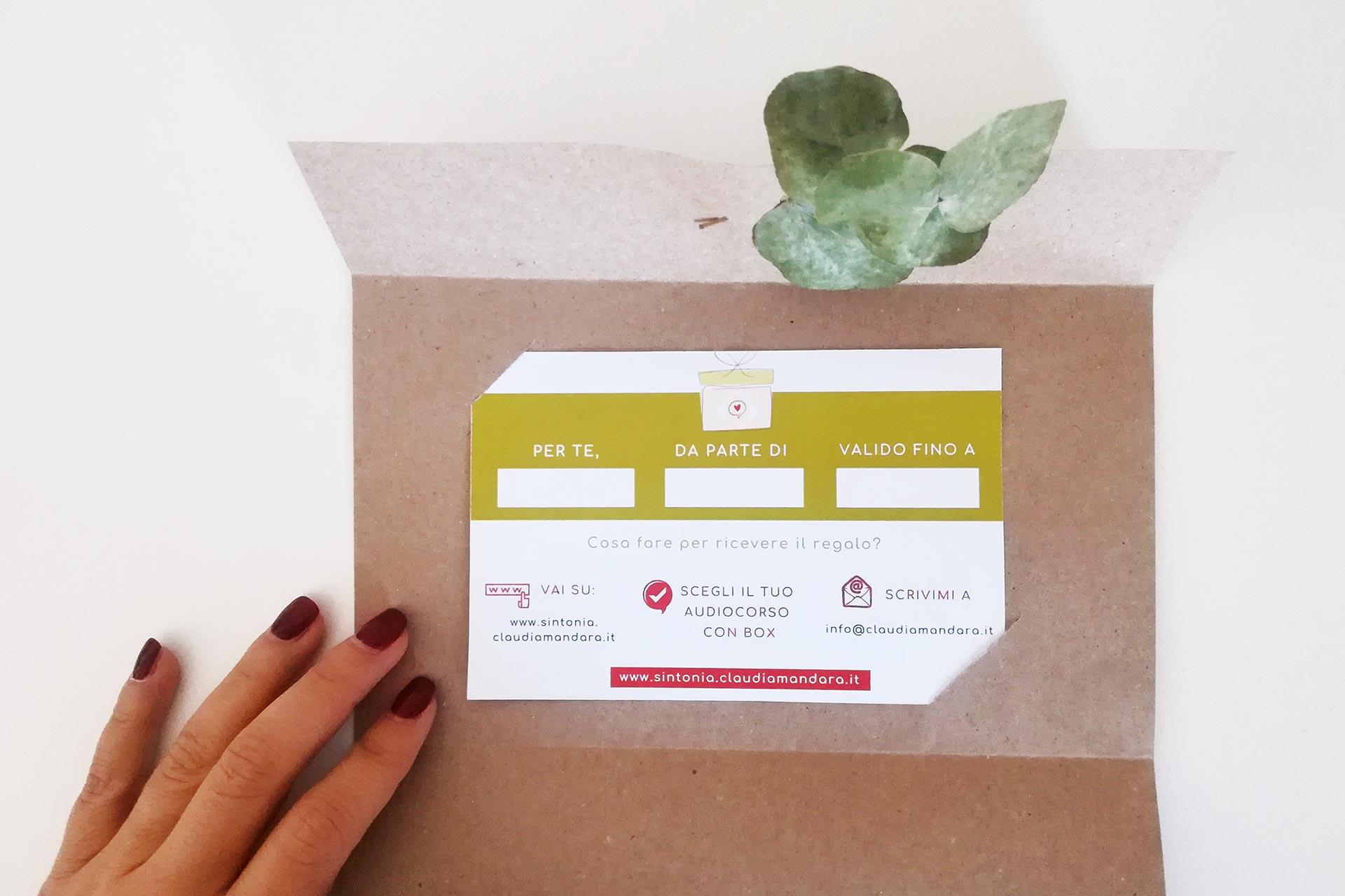Gift Card: regala un audiocorso Sintonia